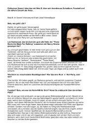 Exklusives Szene1-Interview mit Bela B. über sein brandneues ...