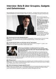 Interview: Bela B über Groupies, Gadgets und Geheimnisse