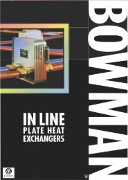 Page 1 Page 2 In Line Plate Heat Exchangers Bowman ln l ine ...