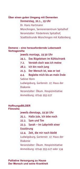 VorO rt - Katholische Erwachsenenbildung Kreis Ludwigsburg eV