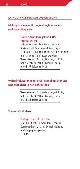 VorOrt - Katholische Erwachsenenbildung Kreis Ludwigsburg eV