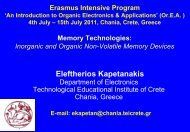 Inorganic & Organic - OREA 2011 - Technological Educational ...