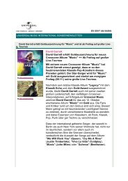 universal music international sondernewsletter nov ... - David Garrett