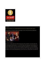 echo klassik 2012 beeindruckte mit glanzvoller gala - David Garrett
