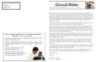 Circuit Rider - the Sodus United Third Methodist Church