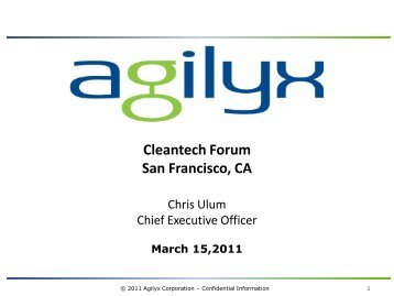 Cleantech Forum San Francisco, CA - Upcoming Forums and Events
