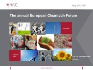 The annual European Cleantech Forum - Upcoming Forums and ...