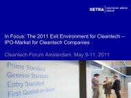 In Focus - the 2011 Exit Environment for Cleantech - Upcoming ...