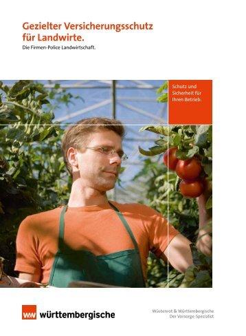 Gezielter Versicherungsschutz für Landwirte. - Firmenkunden