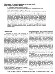 Adsorption of fluids in disordered porous media from integral ...