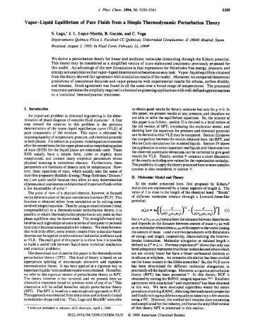 Vapor-Liquid Equilibrium of Pure Fluids from a Simple ...