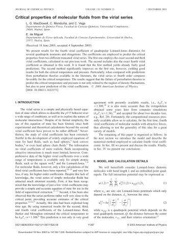Critical properties of molecular fluids from the virial series