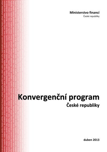 Konvergenční program ČR - European Commission - Europa