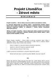Projekt Litoměřice - Zdravé město DEKLARACE