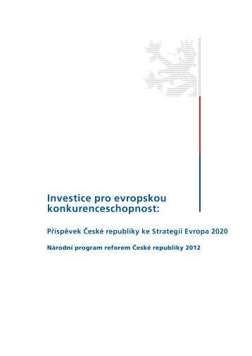 Národní program reforem 2012 - Strategie vzdělávání 2020