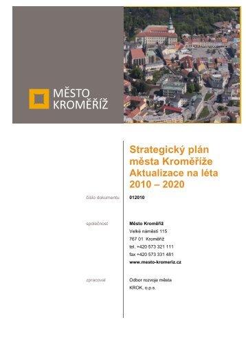 Strategický plán města Kroměříže, Aktualizace na léta 2010 – 2020