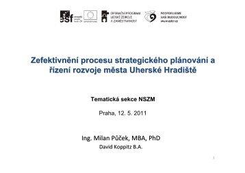 Zefektivnění procesu strategického plánování a řízení rozvoje města ...