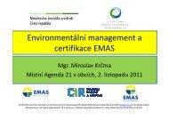 Environmentální management a certifikace EMAS - M. Krčma