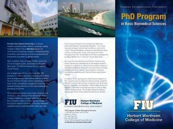 PhD Program - Herbert Wertheim College of Medicine - Florida ...
