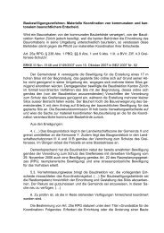 Baubewilligungsverfahren. Materielle Koordination von ...
