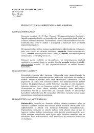 GEOLOGIAN TUTKIMUSKESKUS M 10/-03/1/85 Reijo Alviola 17.11 ...