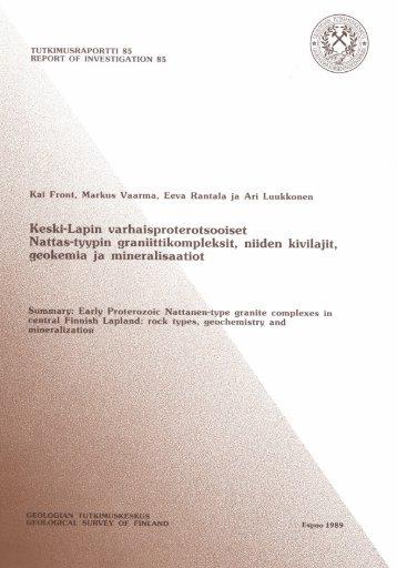 nattanen-type - arkisto.gsf.fi - Geologian tutkimuskeskus
