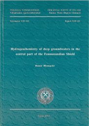 Hydrogeochemistry of deep groundwaters in the central part of the ...