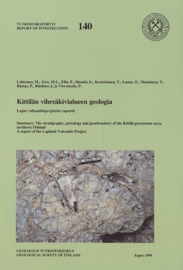 TUTXIMUSRAPORTTI - arkisto.gsf.fi - Geologian tutkimuskeskus