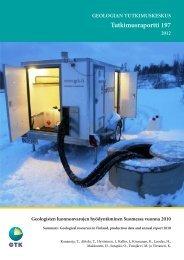 Tutkimusraportti 197 - arkisto.gsf.fi - Geologian tutkimuskeskus