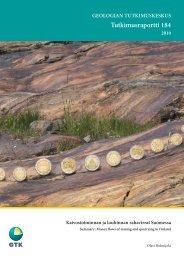 Tutkimusraportti 184 - arkisto.gsf.fi - Geologian tutkimuskeskus