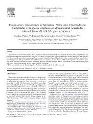 Evolutionary relationships of Spirurina (Nematoda: Chromadorea ...