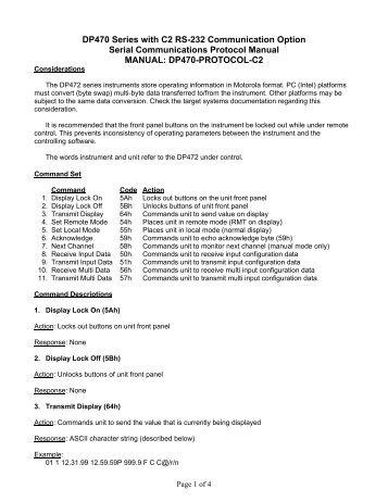 Docucom pdf serial communication