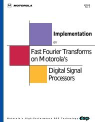 Fast Fourier Transforms on Motorola's Digital Signal Processors