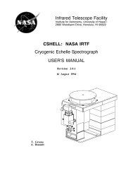 Users Manual - NASA Infrared Telescope Facility - University of Hawaii