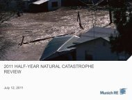 2011 half-year natural catastrophe review - Munich Reinsurance ...