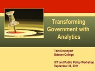 Transforming Government with Analytics
