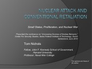 Nuclear Attack and Conventional Retaliation: Small States ...