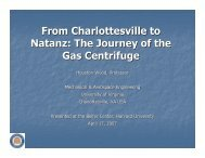 From Charlottesville to Natanz: The Journey of the Gas Centrifuge