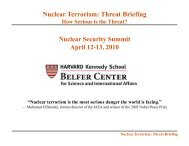 Nuclear Terrorism: Threat Briefing - Belfer Center for Science and ...