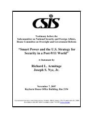 'Smart Power' and the US Strategy for Security in - Belfer Center for ...
