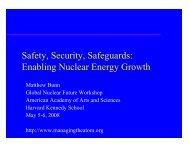 Safety, Security, Safeguards - Belfer Center for Science and ...