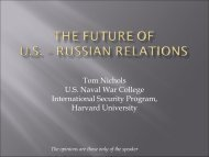 The Future of U.S. ? Russian Relations - Belfer Center for Science ...