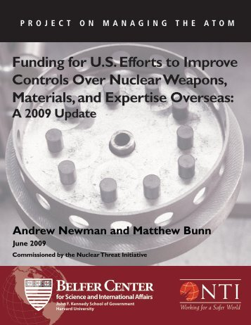 Funding for U.S. Efforts to Improve Controls Over Nuclear Weapons ...