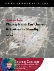 Placing Iran's Enrichment Activities in Standby - Belfer Center for ...