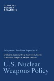 U.S. Nuclear Weapons Policy - Council on Foreign Relations