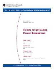Policies for Developing Country Engagement - Belfer Center for ...