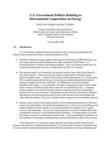 International Cooperation Essay Sample