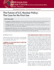 The Future of U.S. Nuclear Policy: The Case for No First Use