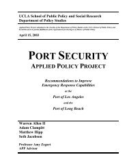 Port Security Applied Policy Project - Belfer Center for Science and ...