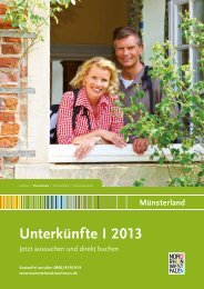 Hotel und Ferienwohnungen im Münsterland I 2013